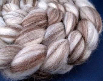 Natural BFL Wool Roving, 75/25 Swirl - 4 oz.