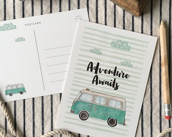 "Set of (3) 5""x7"" ""Camper Van"" Postcards"
