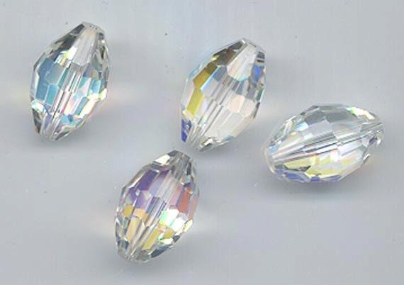 Eight vintage Swarovski crystals - Art. 351/5200 - 18 x 12 mm - crystal aurora borealis