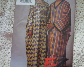Vogue 9116 EZ Unisex Pullover Caftan Pattern Princess Seams Afrocentric Adult Teen Sewing Pattern Size XS S M Bust Chest 30 - 40 UNCUT