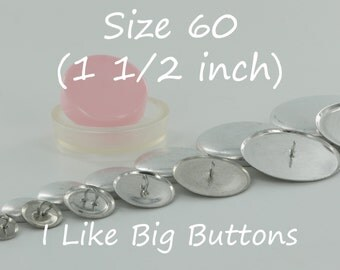 200 WIRE BACK Size 60 (1 1/2 Inch / 38mm) Fabric Cover Buttons/Button (Ships from the USA) Use to make Fabric Covered Buttons