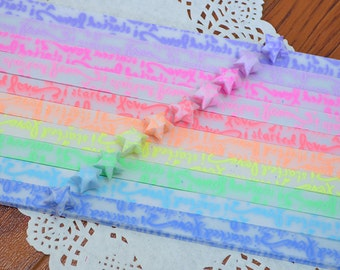 Glow in the Dark Started Love Origami Lucky Star Paper Luminous Strips - Choose Your Own Color
