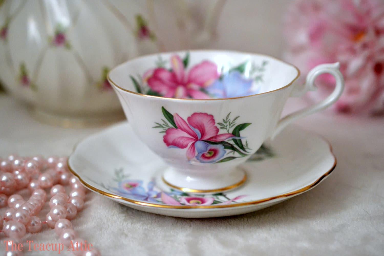 ON SALE Royal Albert Vintage Teacup And Saucer Set, English Bone China Tea Cup Set, ca. 1960-1970