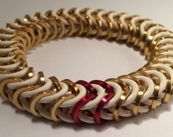 Mercy Inspired Stretch Box Chain Chainmaille Bracelet