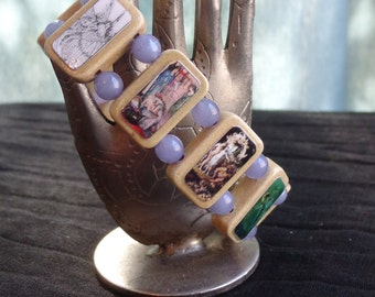 Fairy Wooden Devotional Bracelet. Pagan Devotional Jewerly.