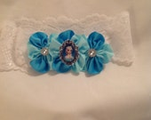 Vintage Lace Headband/Princess Headband/Boutique Hair Bow/Baby Hair Bows
