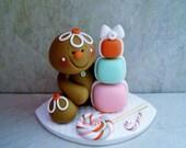 Gingerbread Man - Polymer Clay - Holiday Figurine