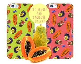 Exotic Fruit iPhone 6 Case Papaya iPhone 7 Plus Case Fig iPhone 6s Case Passion Fruit Samsung Galaxy s7 Case Fruit Samsung Galaxy s7 Edge