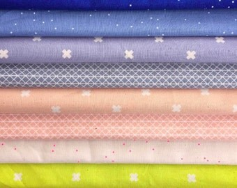 Cotton + Steel - Basics - Fat Quarter Bundle - Cotton + Steel - CSNB-FQ - 9 prints