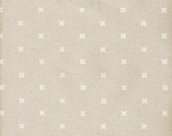 Cotton + Steel - Basics - XOXO in Natural - 5001-014 - 1/2 Yard