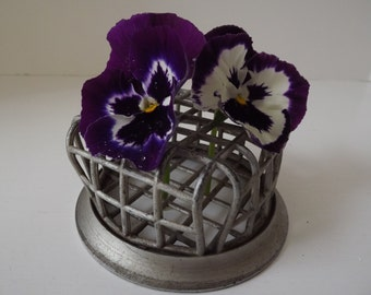 Metal Flower Frog, Beagle MFG Company,Pasadena, CA.,Vogue Holder No. 72, Industrial Decor, Floral Supply, Circa 1960's