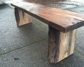 Driftwood Spruce and Ash Bench