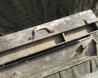 Large Antique Tool Box with Drawer