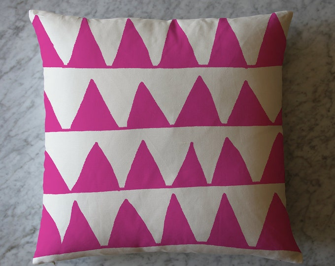 Pillow with Pink Triangles.  August 3, 2011