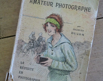 Photography book, 1920 French vintage guide to photography