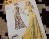 Vintage Simplicity Jumpsuit pattern #9370 1971 UNCUT