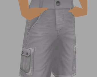 There.com Men's Cargo Shorts Template