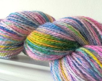 "Exmoor Horn Alpaca Silk Yarn 100g 360m ""Galaxy No 3"""