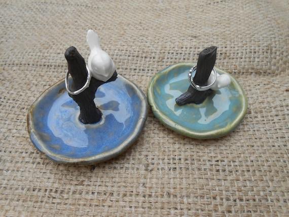 Ceramic Birdie Ring Dish