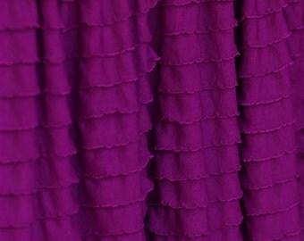 "Magenta Cascading Ruffle Fabric 22"" Remnant"