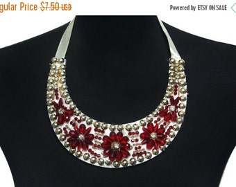 SALE Day Beaded Necklace Collar with Lacing for Fashion and Crafts