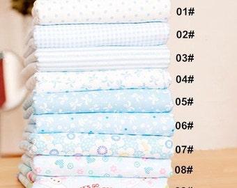 """Blue Bundle Blue Cotton Fabric Bundle- Blue Fabric Fat Quarter Bundle, 9 Fat Quarters Pieces each 9""""X9""""(24x24cm) (QT672-S)"""