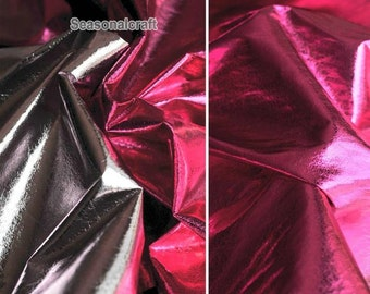 Reflective Hobo Faux Leather Fatber In Rosy Light Pink, Disco Dance Pageant Prom Fabric- 1/2 Yard (QT707)
