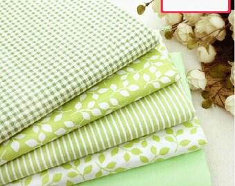 "Green Bundle Green Cotton Fabric Bundle- Green Fabric Fat Quarter Bundle, 10 Fat Quarters Pieces each 20x25cm 8""X10"" (QT708-S)"