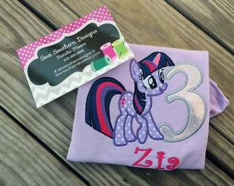 Twilight Sparkle Birthday shirt or dress