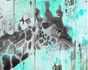 Giraffe Taking a Look. Canvas Print by Irena Orlov 24x36""