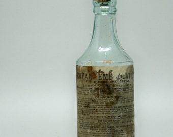 Vintage bottle Medicine Veterinary