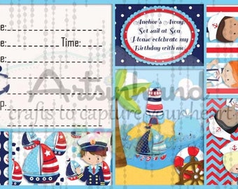 Boy Sailor Birthday Invitation