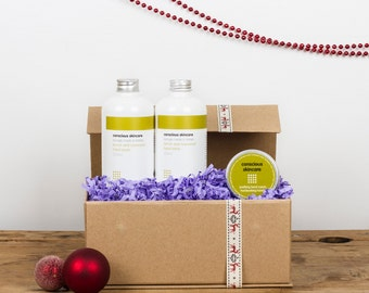 Organic Gift Set for Hardworking Hands. Contains Hand Cream, Hand Lotion and Hand Wash. Gift for Women. Gardeners Gift. Gift for Men. Vegan.