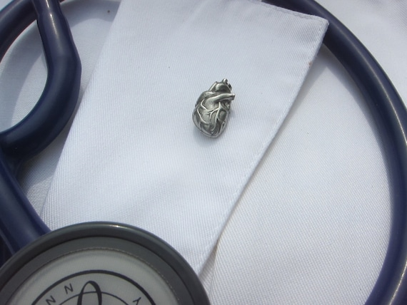 Human Heart Lapel Pin - CC389- Medical and Anatomy Pins for Doctors and Nurses- Anatomical Heart- Hospital Pins- Cardiology