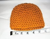 mustard yellow crochet toddler/child hat/beanie