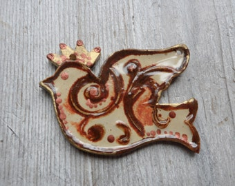ceramic bird pendant