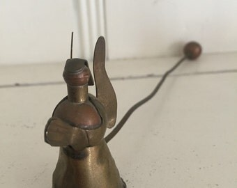 Vintage Angel Candle Snuffer Praying Angle Set Copper And Brass