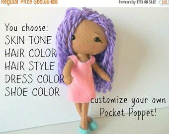 BACK 2 SCHOOL SALE Custom Pocket Poppet Doll - Gingermelon Doll
