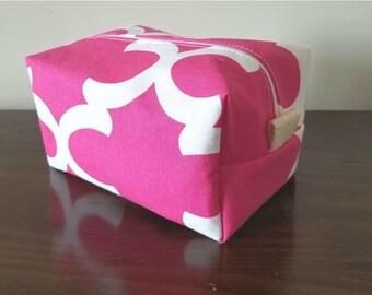 BACK 2 SCHOOL SALE Pink Waterproof Makeup Bag - Cosmetic Bag - Water Resistant Bag