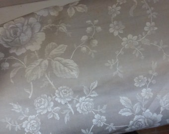 French Toile De Jouy Metis Fabric Beautiful Design, Large Piece,  Vintage Fabric.