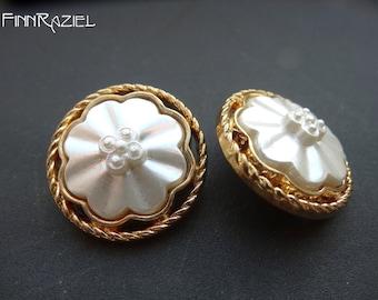 4 opulent Goldknöpfe ø25mm coat buttons