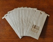 SALE - Ten Small 1/2 lb. Kraft Window Tin Tie Coffee Bags