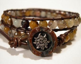 Bohemian Wrap Bracelet, Beaded Bracelet, Boho Wrap Bracelet, 782