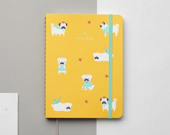 PRE-ORDER Pugs Mustard 2017 Gold Foil Personalized Planner