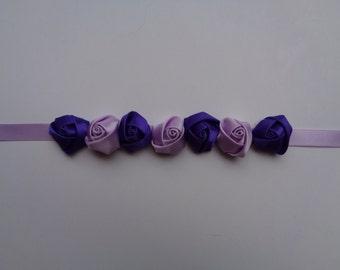Lavender/ Purple Rosettes Bun Wrap, Ballerina Bun Wrap, Ballet Recital Gift,Dancer Bun Wrap