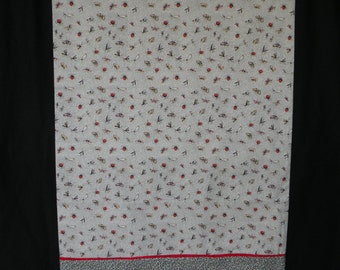 Pillow Case, Bugs, Butterflies, Lady Bugs, etc., Standard Size. 100% Premium Cotton Fabrics