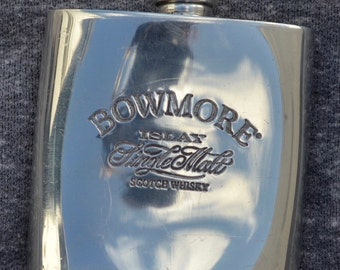 Vintage Bowmore Scotch Whiskey Flask