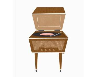 Record Player - Standalone Art Print