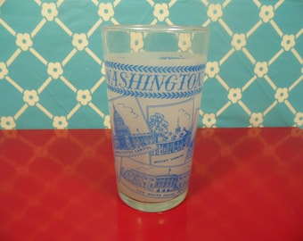 Washington DC  Frosted Glass - Libbey's - District Of Columbia -  8 Oz