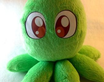 Green octopus plush toy